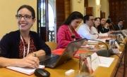 Participantes durante la actividad sobre la consolidación del sistema FALFRA como herramienta de intercambio de información en la lucha contra los medicamentos fraudulentos